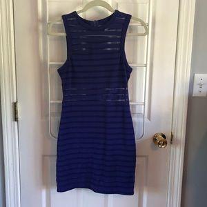 Silence + noise S blue cotton dress